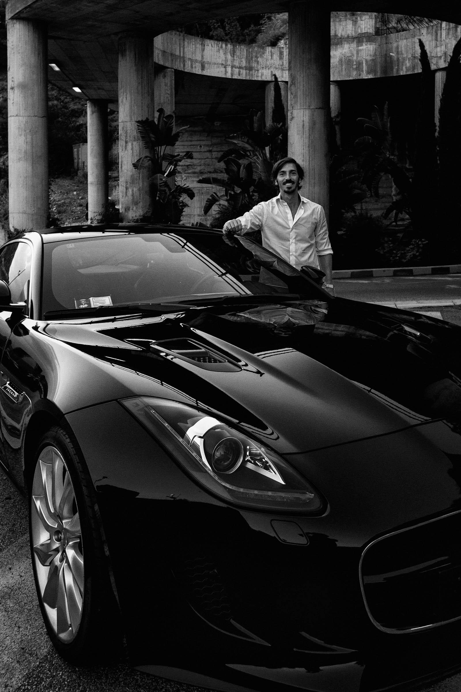 Taromina. A guy and his Jaguar